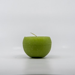 Kugle Lys - Æble grøn - 6 cm Ø