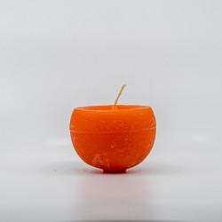 Kugle Lys - Orange - 8 cm Ø