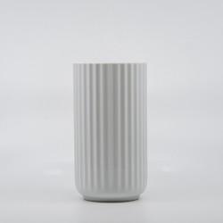 Lyngby Vasen - Hvid 15 cm