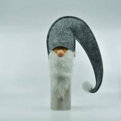 Julemand På træfod - Grå 37 cm