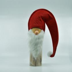 Julemand på Træfod - Rød 37 cm